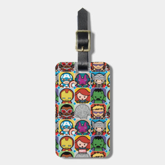 Kawaii Avengers Vs Ultron Pattern Luggage Tag