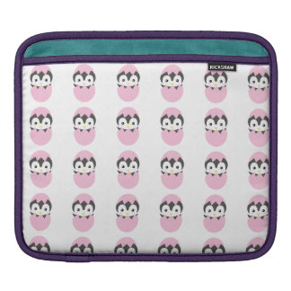 Kawaii baby penguin hatching iPad sleeve
