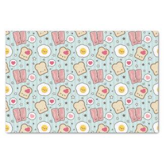 Kawaii Bacon & Fried Egg Deconstructed Sandwich Tissue Paper