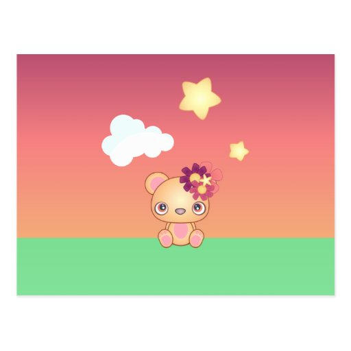 Kawaii Bear Post Card