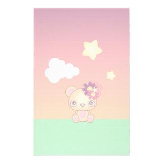Kawaii Bear Stationery Paper