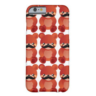 Kawaii Bear with Mustache Humor iPhone 6 case