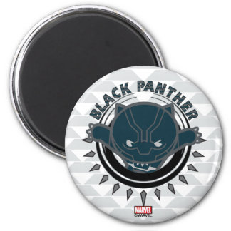 Kawaii Black Panther Logo Magnet
