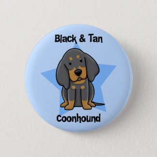 Kawaii Black & Tan Coonhound 6 Cm Round Badge