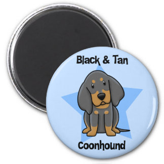 Kawaii Black & Tan Coonhound Magnet