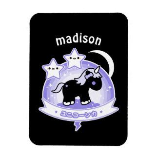 Kawaii Black Unicorn Magnet