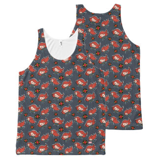 Kawaii Black Widow Dash All-Over Print Singlet