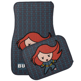Kawaii Black Widow Dash Car Mat