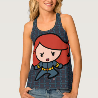 Kawaii Black Widow Dash Singlet