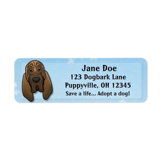 Kawaii Bloodhound Return Address Label
