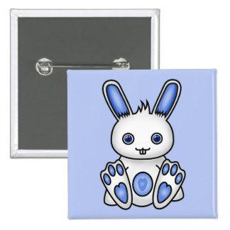 Kawaii Blue Bunny Pinback Buttons