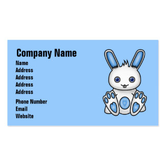 Kawaii Blue Bunny Business Card Templates