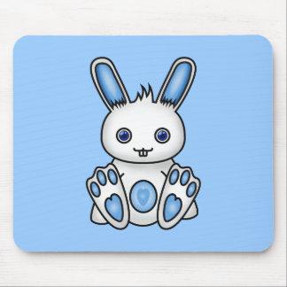 Kawaii Blue Bunny Mousemat