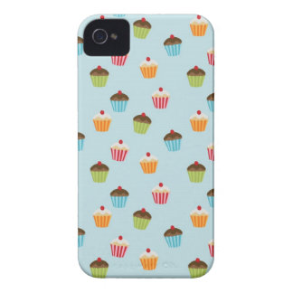 Kawaii blue cupcake pattern print Blackberry case