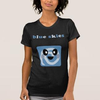 kawaii blue skies and fluffy clouds bubble bar T-Shirt