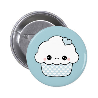 Kawaii Blueberry Cupcake 6 Cm Round Badge