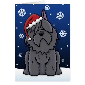 Kawaii Bouvier des Flandres Christmas Card