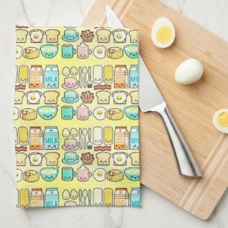 Kawaii Breakfast Club Tea Towel