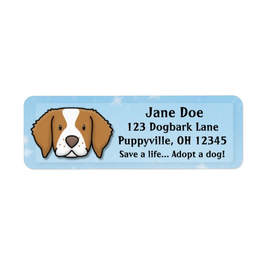 Kawaii Brittany Spaniel Return Address Label