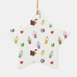 Kawaii Bubble Tea Ceramic Ornament