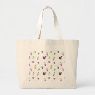 Kawaii Bubble Tea Large Tote Bag