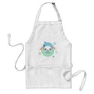 kawaii bunny blue standard apron