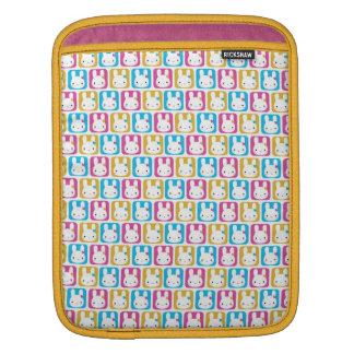Kawaii Bunny Squares iPad Sleeve