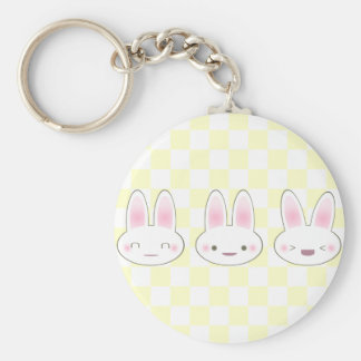 KAWAII BUNNY TRIO KEY RING