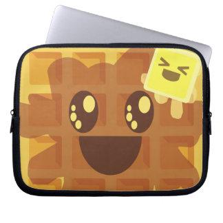 Kawaii Butter Waffle Breakfast Laptop Sleeve