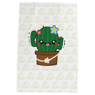 Kawaii cactus giftbag medium gift bag