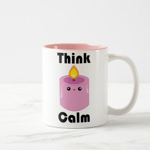 Kawaii Candle Think Calm mug