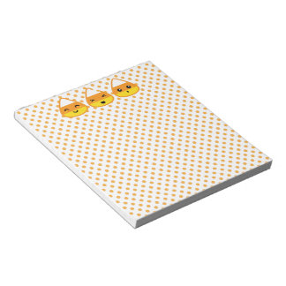 Kawaii Candy Corn Notepad