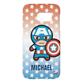 Kawaii Captain America With Shield