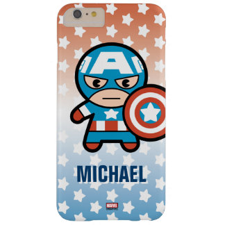 Kawaii Captain America With Shield Barely There iPhone 6 Plus Case