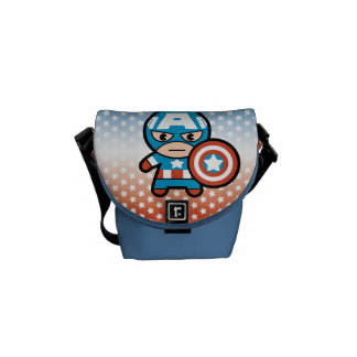 Kawaii Captain America With Shield Commuter Bag