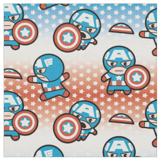 Kawaii Captain America With Shield Fabric