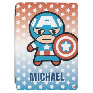 Kawaii Captain America With Shield iPad Air Cover