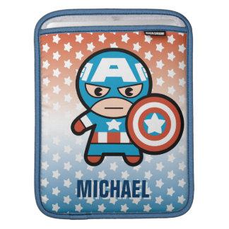 Kawaii Captain America With Shield iPad Sleeve