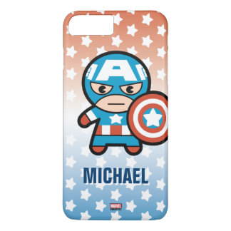Kawaii Captain America With Shield iPhone 8 Plus/7 Plus Case