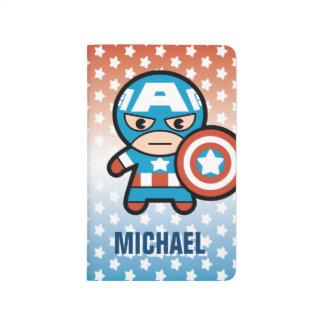 Kawaii Captain America With Shield Journal