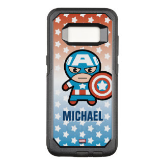 Kawaii Captain America With Shield OtterBox Commuter Samsung Galaxy S8 Case