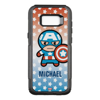 Kawaii Captain America With Shield OtterBox Commuter Samsung Galaxy S8+ Case
