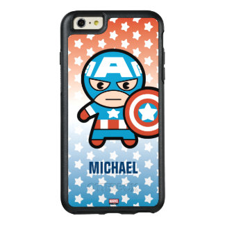 Kawaii Captain America With Shield OtterBox iPhone 6/6s Plus Case