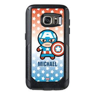 Kawaii Captain America With Shield OtterBox Samsung Galaxy S7 Case