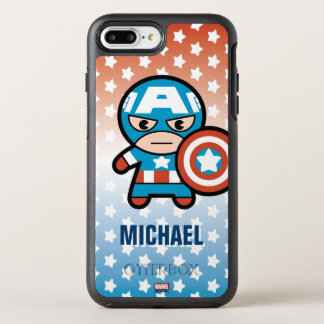 Kawaii Captain America With Shield OtterBox Symmetry iPhone 8 Plus/7 Plus Case