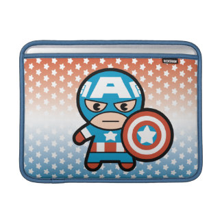 Kawaii Captain America With Shield Sleeve For MacBook Air