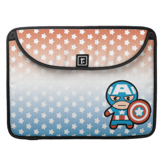 Kawaii Captain America With Shield Sleeve For MacBooks