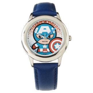 Kawaii Captain America With Shield Watch