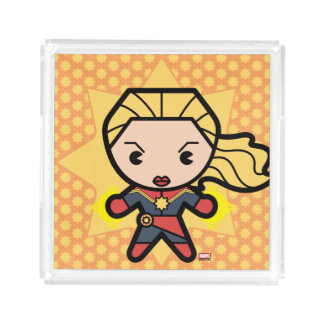 Kawaii Captain Marvel Photon Engery Acrylic Tray
