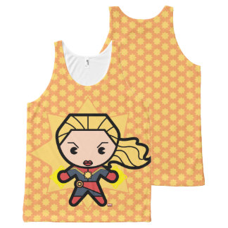 Kawaii Captain Marvel Photon Engery All-Over Print Singlet